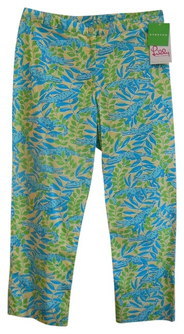 Lilly Pulitzer Yellow Green Blue Style #40451 /Mimosa Pants Size 8 (M, 29, 30) Lilly Pulitzer Yellow Green Blue Style #40451 /Mimosa Pants Size 8 (M, 29, 30) Image 1