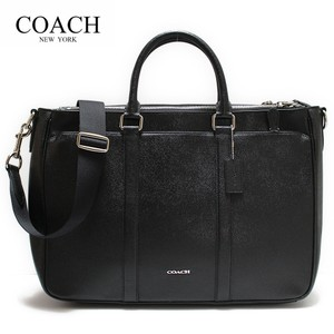 Coach Men Leather F59141 Tote in Black