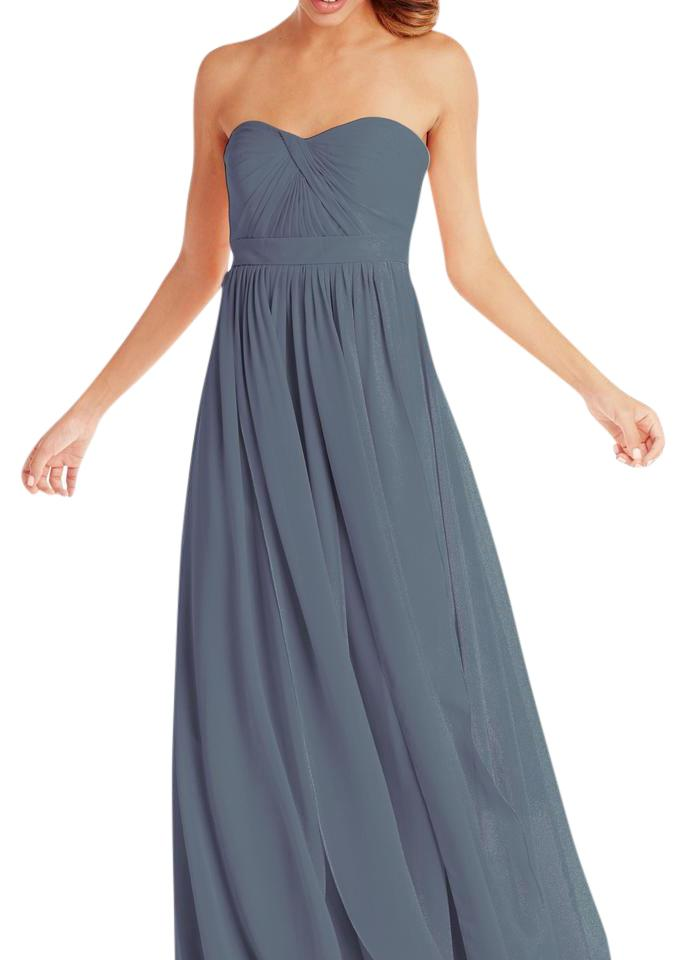 fa8f7dfe9 Jenny Yoo Dusty Blue Aidan Long Formal Dress Size 16 (XL, Plus 0x ...