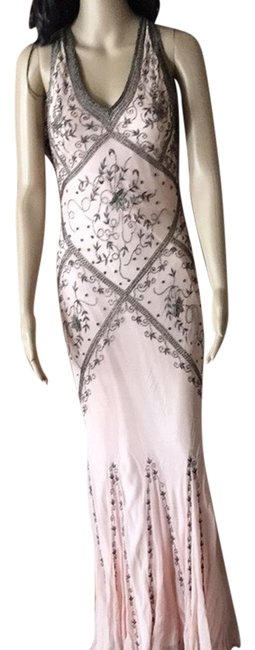 Preload https://item3.tradesy.com/images/cache-dress-pink-dark-silver-beaded-see-pictures-2194247-0-0.jpg?width=400&height=650
