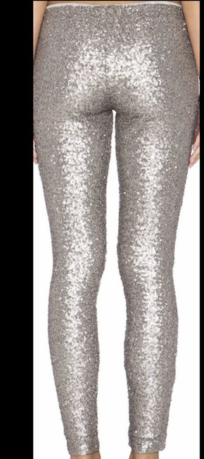 Amuse Society Sequins Low Waist Lined Silver / Pewter Leggings Image 1