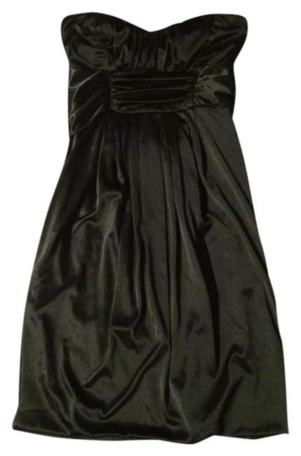 Item - Black Party Empire Waist Classic Strapless Short Above Knee Cocktail Dress Size 4 (S)