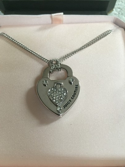 Juicy Couture Juicy Couture Pave Heart Turnlock Necklace