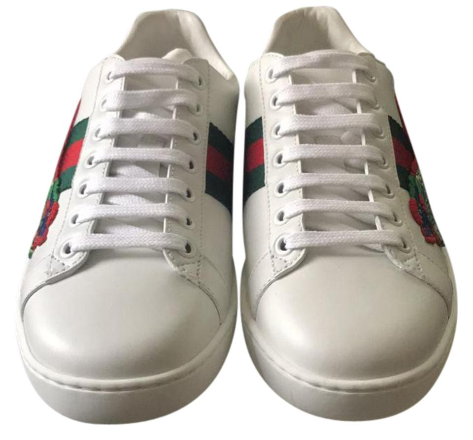 b93fc1e16da Gucci White New Ace Dragon Sneaker Sneakers Size EU 37.5 (Approx. US ...
