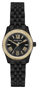 Michael Kors NIB MICHAEL KORS PETITE LEXINGTON BLACK WATCH MK3299