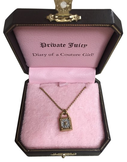 Juicy Couture Juicy Couture Gold Lock Necklace