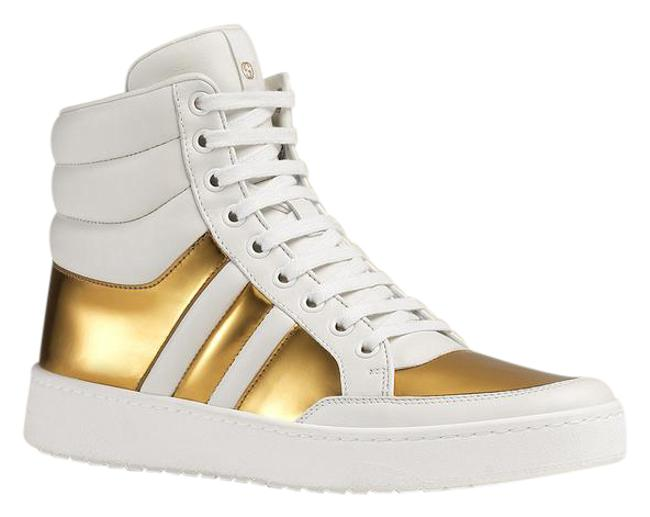 Item - White Gold New Leather 39.5g / 370504 Sneakers Size US 10 Regular (M, B)