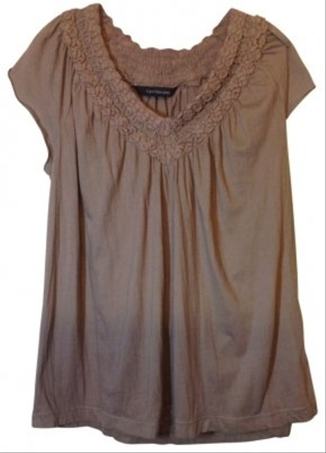 Preload https://item5.tradesy.com/images/calvin-klein-light-brown-embellished-neck-tunic-size-8-m-21944-0-0.jpg?width=400&height=650