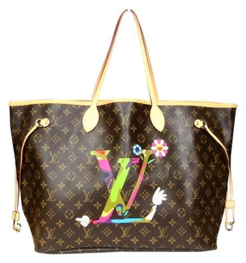 Preload https://img-static.tradesy.com/item/21944155/louis-vuitton-neverfull-new-murakami-moca-gm-ltd-ed-m95560-rare-brown-leather-tote-0-0-540-540.jpg