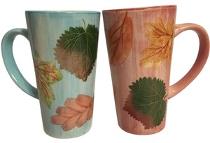 Autumn Leaves Mug Set [ Roxanne Anjou Closet ]