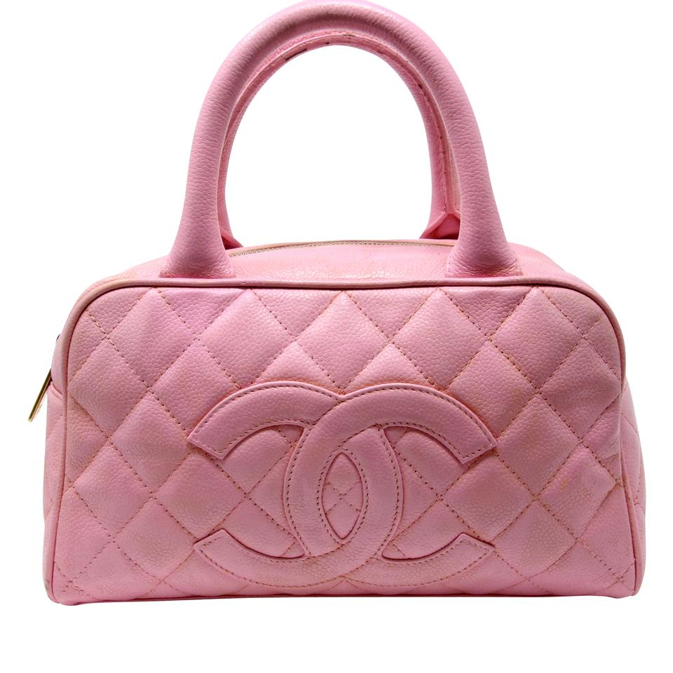 151247c33f0c Chanel Signature Caviar Diamond Spring Quilted Big Cc Monogram Pink ...