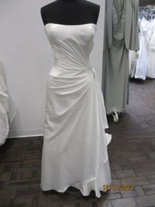 Maggie Sottero Ivory Stretch Satin Bridal A3282 (Dylan) - (127l) Modern Wedding Dress Size 14 (L)