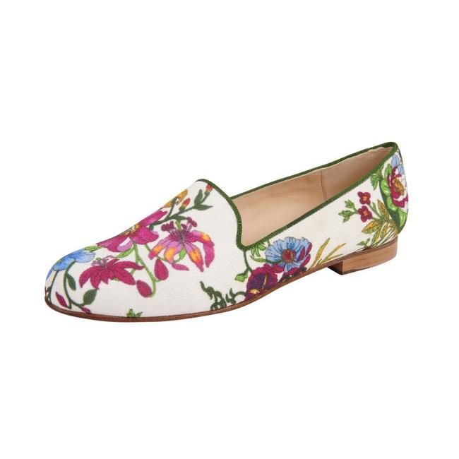 Item - Multi Floral Gatsby Smoking Loafers - Provence Flats Size US 6 Regular (M, B)