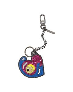 Marc Jacobs NWT Heart Multi Color Purse Charm Key Chain Key Ring