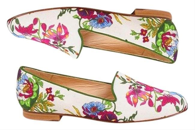 Item - Multi Floral Gatsby Smoking Loafers - Provence Flats Size US 8 Regular (M, B)