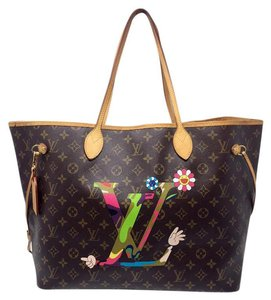 Louis Vuitton Neverfull Pm Damier Azur Alma Brown Clutch