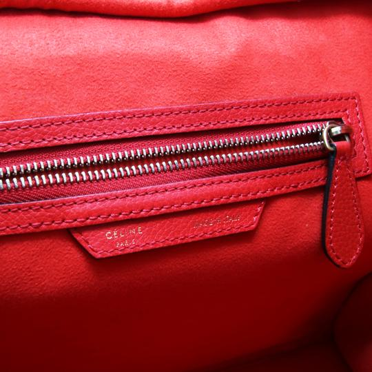 Céline Tri Color Chanel Quilted Jumbo Gm Satchel in Red Image 11