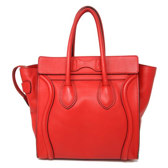Céline Tri Color Chanel Quilted Jumbo Gm Satchel in Red Image 2