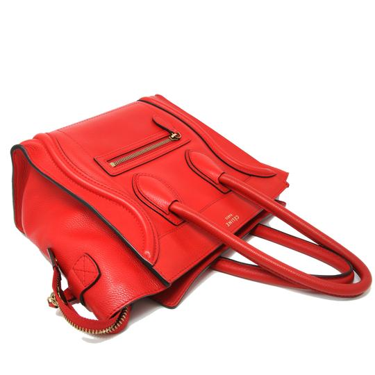 Céline Tri Color Chanel Quilted Jumbo Gm Satchel in Red Image 3