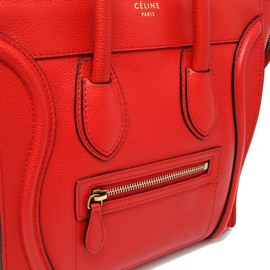 Céline Tri Color Chanel Quilted Jumbo Gm Satchel in Red Image 8