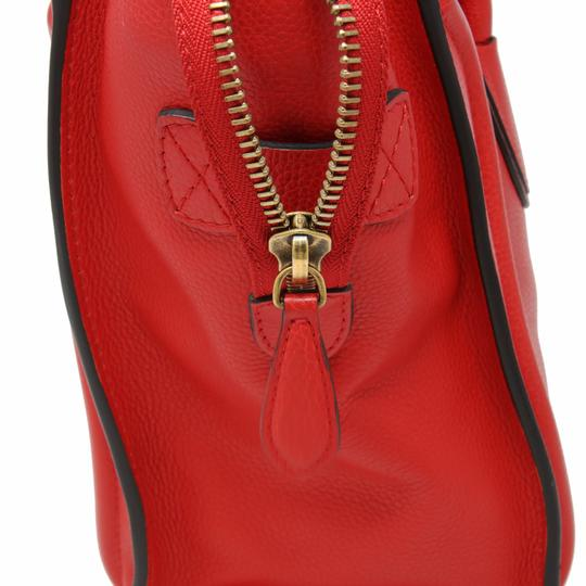 Céline Tri Color Chanel Quilted Jumbo Gm Satchel in Red Image 9