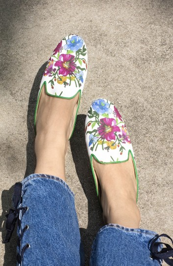 Free People Leather Gucci Slippers Flat Multi floral Mules Image 2