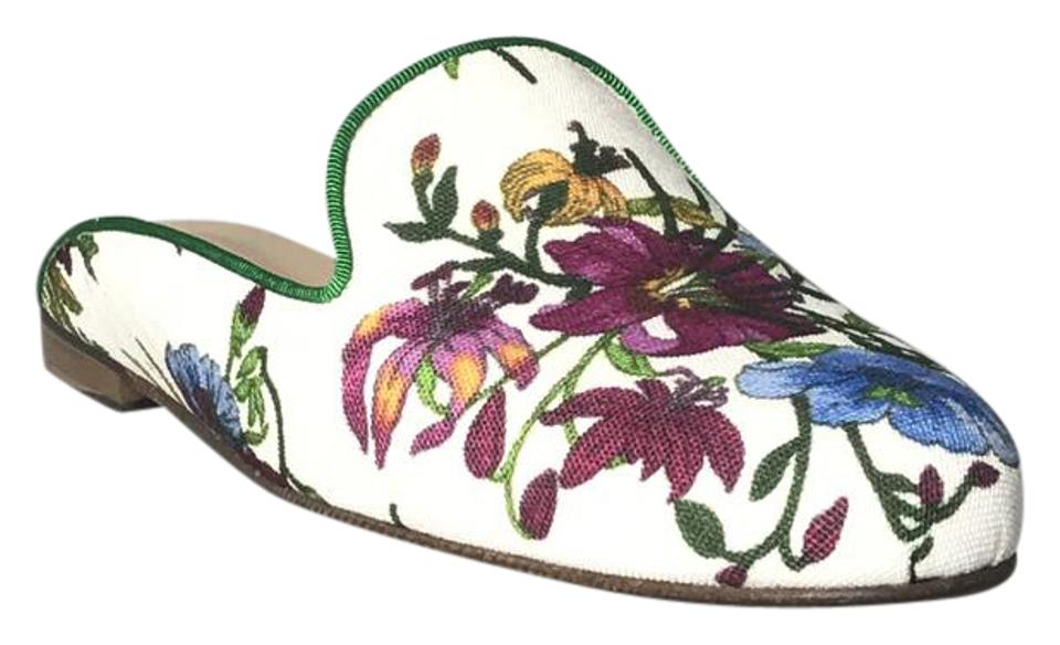 WOMEN Anthropologie Floral/Multi goods Great Mules/Slides Let our goods Floral/Multi go out into the world 9ff69a
