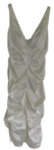 Xscape Off-white/Cream/Ivory Ruched Satin Reception Dress