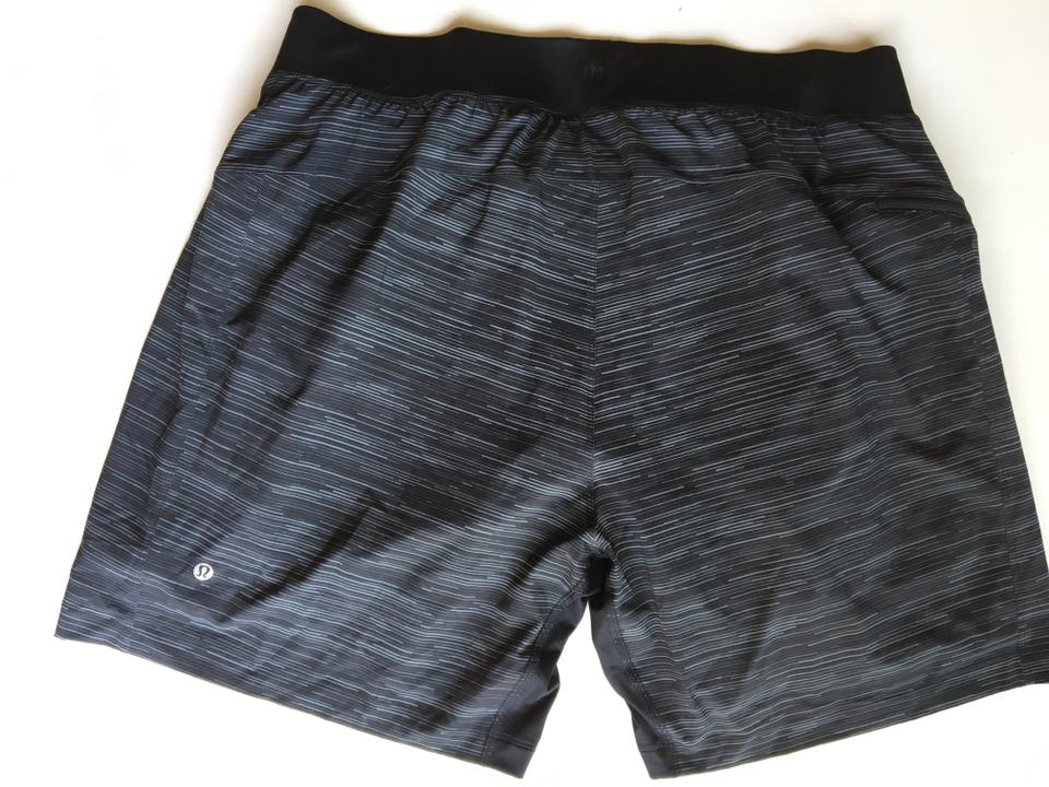 Lululemon Black/Grey Stripe Men's T.h.e Luxtreme Liner S