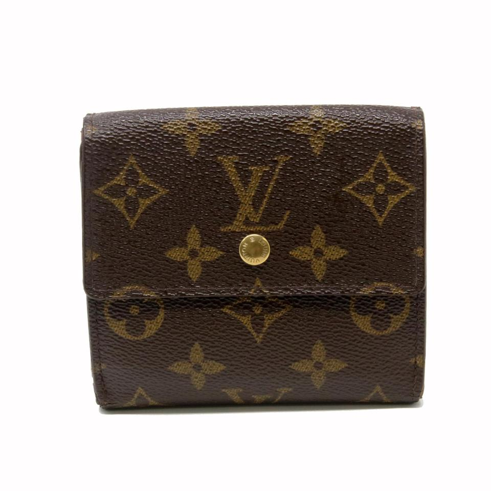 8b2e3e06759 Louis Vuitton Monogram Canvas Porte Lv Feuille Elise Double Snap Travel  Wallet