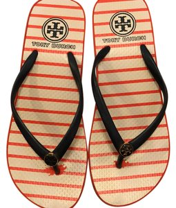 Tory Burch orange and blue Sandals