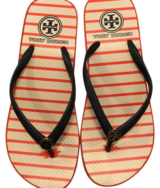Tory Burch Orange and Blue Sandals Size US 6 Regular (M, B) Tory Burch Orange and Blue Sandals Size US 6 Regular (M, B) Image 1