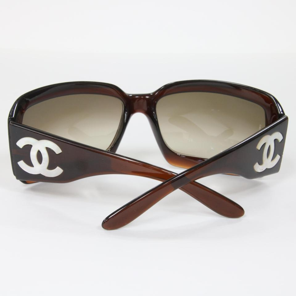 1457332239 Chanel Brown Luxury Iconic 5076h Havana Mother Of Pearl Sunglasses ...