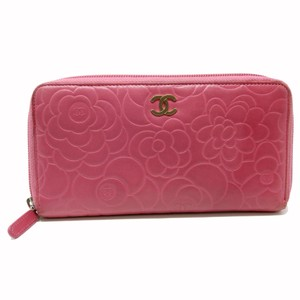 Chanel Signature 2.55 Camellia Pink Floral Quilted Lambskin CC Gold Long