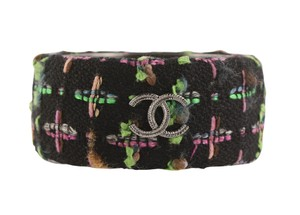 Chanel Chanel Tweed CC Wide Bangle