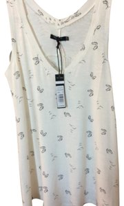 Max Jeans Swing Tunic Top White w/Small Black Flip Flop and Sea Gull Print