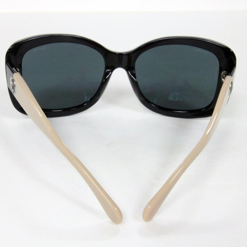 66f41c481fe9 Chanel Black Taupe Signature Cc 5322 Square Frame with Two-tone ...