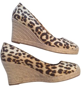 J.Crew Leopard Print Canvis Wedge Wedges