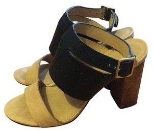 Elizabeth and James Leather black/beige Sandals
