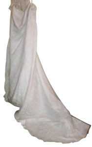 Alfred Angelo White Polyester Nylon Formal Wedding Dress Size 20 (Plus 1x)