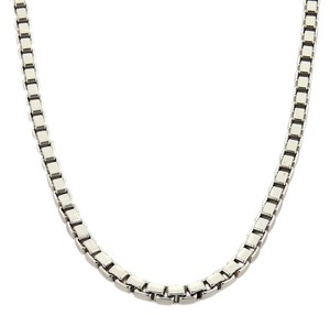 Chopard 18K White Gold Heavy Box Link Chain Necklace 35.8 Grams