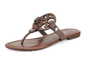 Tory Burch Miller Flat Dark Chocolate Sandals