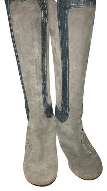 Item - Grey with Blue Detail Boots/Booties Size US 9 Regular (M, B)