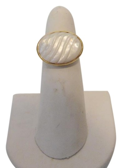 Preload https://item2.tradesy.com/images/veronese-collection-goldtone-mother-of-pearl-textured-size-8-ring-2194726-0-3.jpg?width=440&height=440