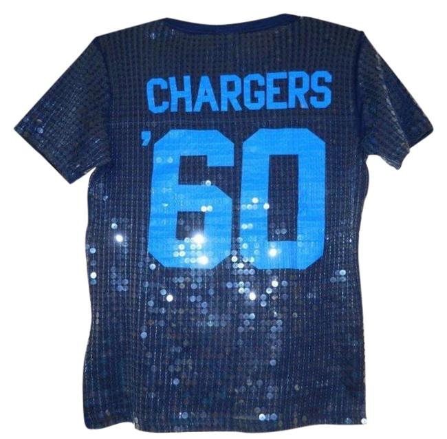 Item - Blue Jersey Pink Nfl Sequins San Diego Chargers Bnwt Tee Shirt Size 2 (XS)