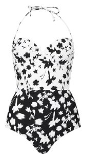 Topshop Color Block Flowers Print Swimsuit
