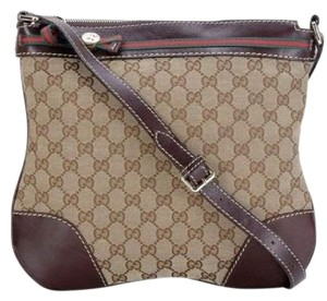 Gucci Web Messenger Gg Monogram Cross Body Bag