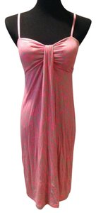 Tommy Bahama short dress Pink and Beige pattern Maxi on Tradesy