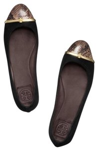 Tory Burch Black, Brown, and Gold Flats