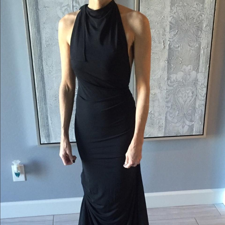 Vera Wang Black Collection Floor-length Gown Long Formal Dress Size ...